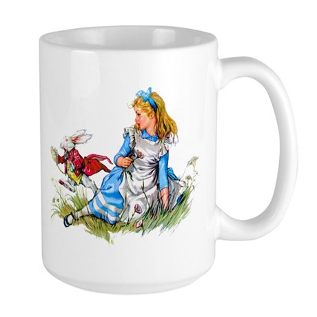 ALICE & THE RABBIT Large Mug