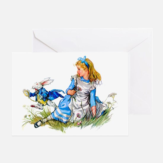 ALICE & THE RABBIT Greeting Card