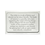 Bible Disclaimer Rectangle Magnet