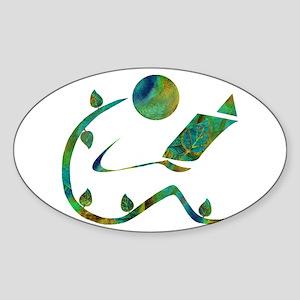 Green Reader Sticker (Oval)