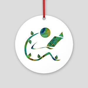 Green Reader Ornament (Round)