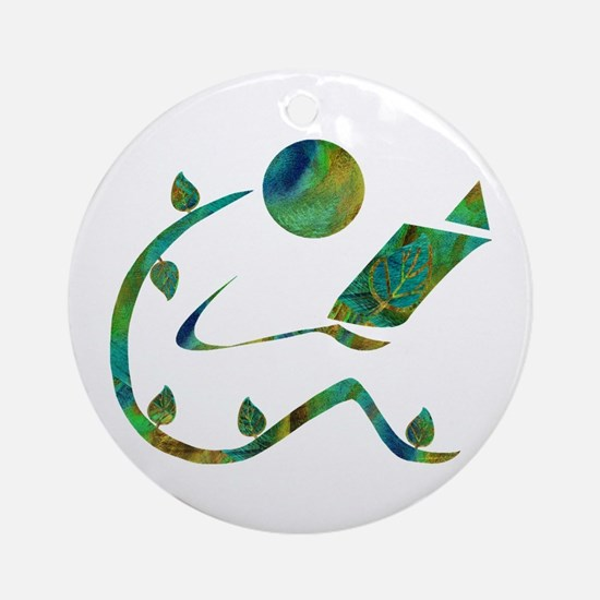 Green Reader Ornament (Round)