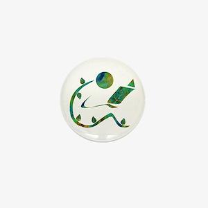 Green Reader Mini Button