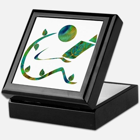 Green Reader Keepsake Box