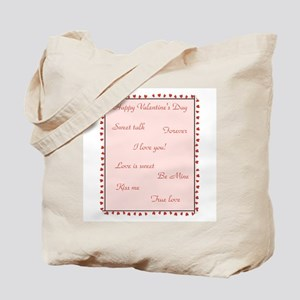 Happy Valentine's Day (sayings) Tote Bag