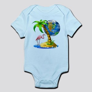 Flamingo Earth Palm Infant Bodysuit