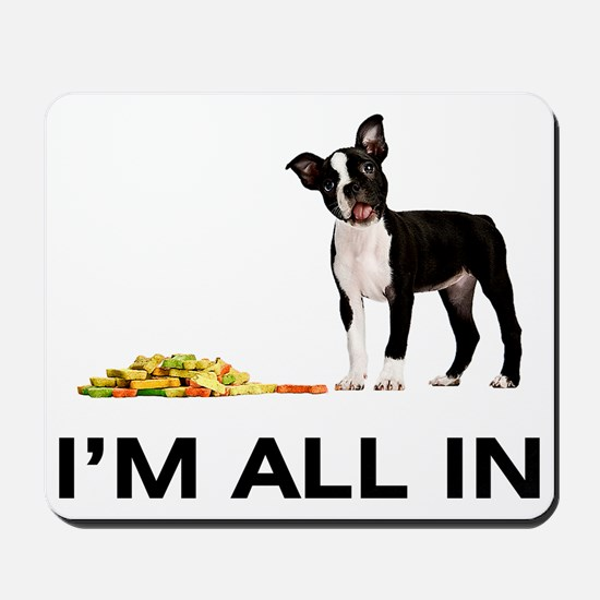 Boston Terrier Poker Mousepad