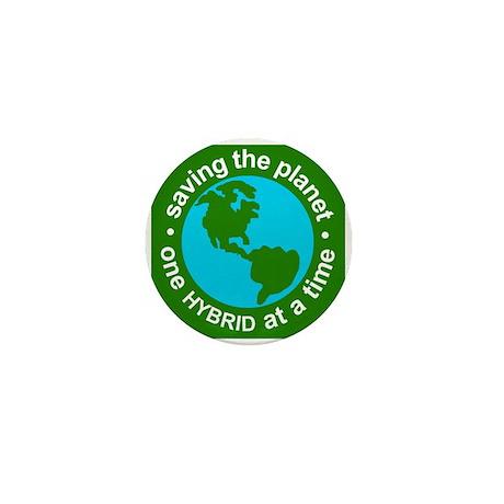 Hybrid Mini Button - Saving the Planet - Hybrid
