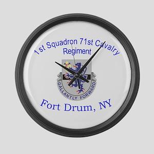 1st Squadron 71st Cav Large Wall Clock