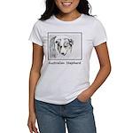 Australian Shepherd Women's Classic White T-Shirt