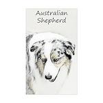 Australian Shepherd Sticker (Rectangle 50 pk)