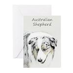 Australian Shepherd Greeting Cards (Pk of 20)