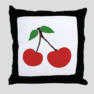 cherries (single) Throw Pillow