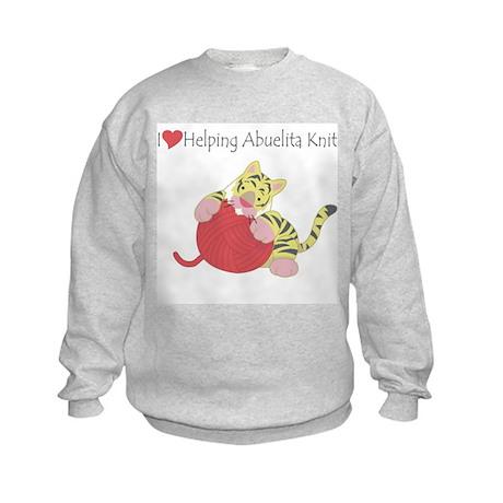 I Love Helping Abuelita Knit Kids Sweatshirt