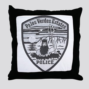 Palos Verdes Estates Police Throw Pillow