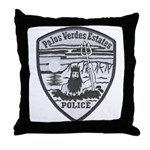 Palos Verdes Estates Police Throw Pillow