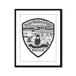 Palos Verdes Estates Police Framed Panel Print