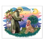 St Francis #2/ Golden Ret (B4) Small Poster