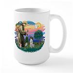 St. Fran #2/ German SH Pointer Large Mug