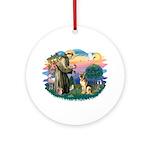 St. Fran #2/ German Shepherd (#2) Ornament (Round)