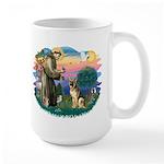 St. Fran #2/ German Shepherd (#2) Large Mug