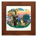St. Fran #2/ German Shepherd (#2) Framed Tile