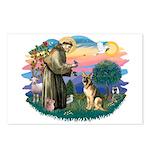 St. Fran #2/ German Shepherd (#2) Postcards (Packa