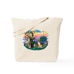 St. Fran #2/ German Shepherd (#2) Tote Bag