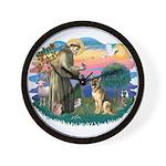 St. Fran #2/ German Shepherd (#2) Wall Clock