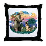 St. Fran #2/ German Shepherd (#2) Throw Pillow