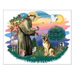 St. Fran #2/ German Shepherd (#2) Small Poster