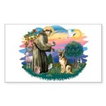 St. Fran #2/ German Shepherd (#2) Sticker (Rectang