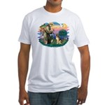St. Fran #2/ German Shepherd (#2) Fitted T-Shirt