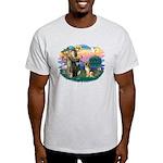St. Fran #2/ German Shepherd (#2) Light T-Shirt