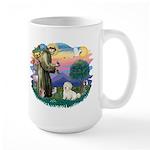 St Francis #2/ Coton De Tulear Large Mug