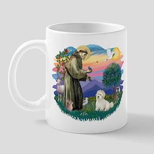 St Francis #2/ Coton De Tulear Mug