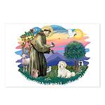 St Francis #2/ Coton De Tulear Postcards (Package