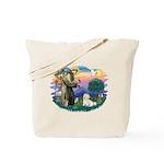 St Francis #2/ Coton De Tulear Tote Bag