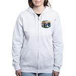 St Francis #2/ Coton De Tulear Women's Zip Hoodie