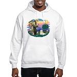 St Francis #2/ Coton De Tulear Hooded Sweatshirt