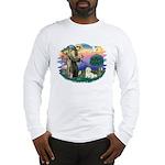 St Francis #2/ Coton De Tulear Long Sleeve T-Shirt