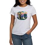 St Francis #2/ Coton De Tulear Women's T-Shirt