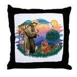 St Francis #2/ Chow (R) Throw Pillow