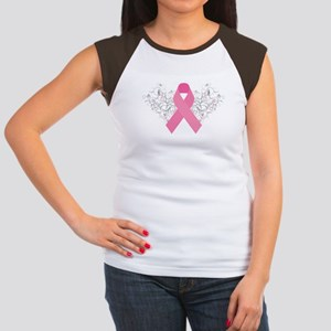 Pink Ribbon Design 3 Women's Cap Sleeve T-Shirt