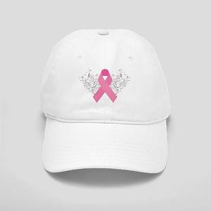 Pink Ribbon Design 3 Cap