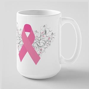 Pink Ribbon Design 3 Large Mug