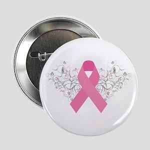 "Pink Ribbon Design 3 2.25"" Button"