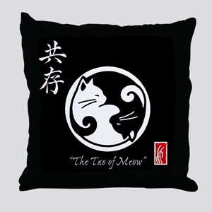 Tao of Meow: Yin Yang Cats Throw Pillow