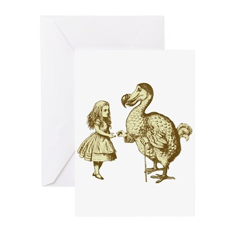 Alice and Dodo Sepia Greeting Cards (Pk of 10)