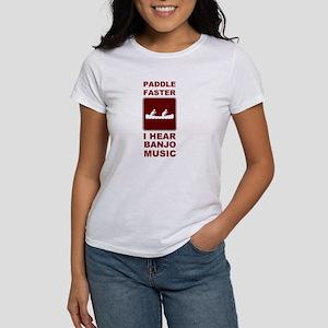Paddle faster I here banjo mu Women's T-Shirt